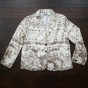 Chico's brown and cream cotton jacket